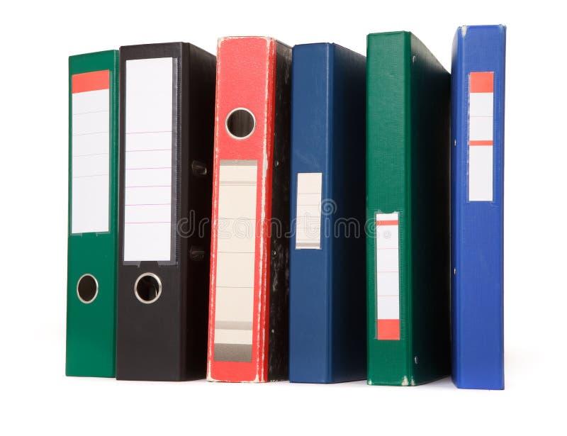 Arquivos coloridos foto de stock
