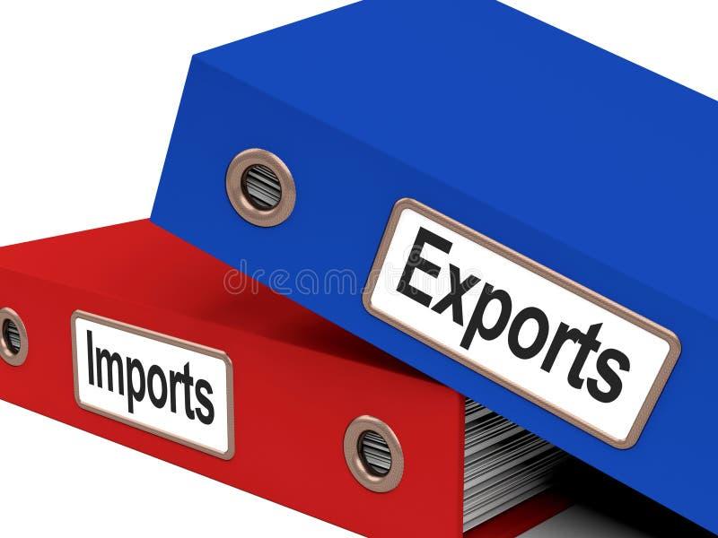 Arquivos da exportação e da importação ilustração royalty free
