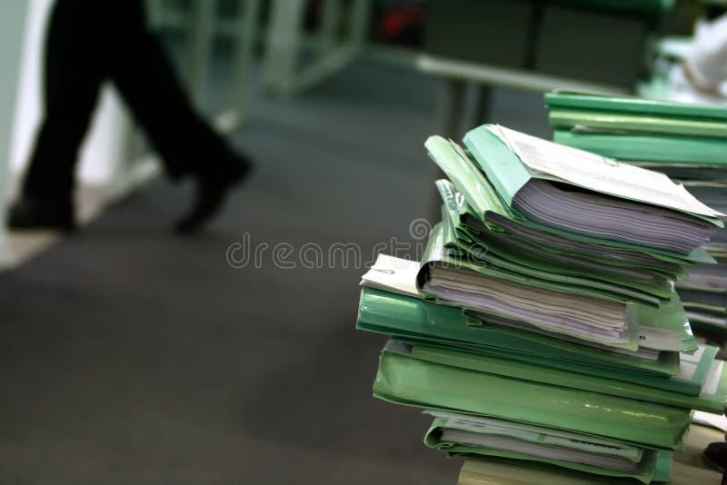 Arquivos do escritório fotografia de stock royalty free