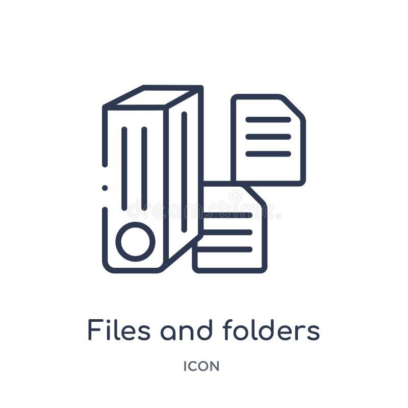 Arquivos e ícone lineares dos dobradores da coleção do esboço das conexões de Electrian Linha fina arquivos e vetor dos dobradore ilustração royalty free