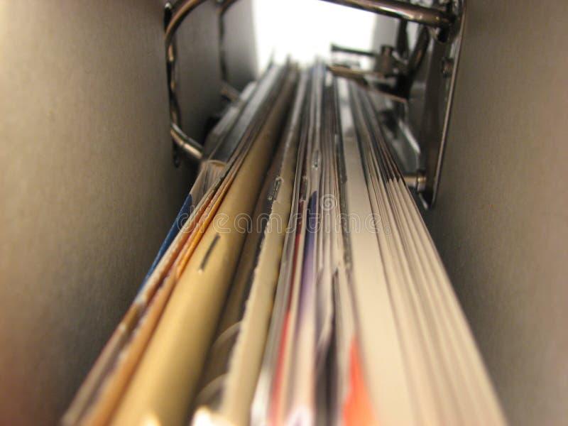 Arquivos internos do escritório foto de stock