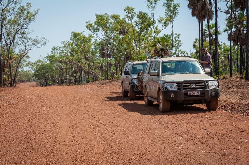 Arrêté à côté de la route de Kalumburu dans l'Australie occidentale photos libres de droits