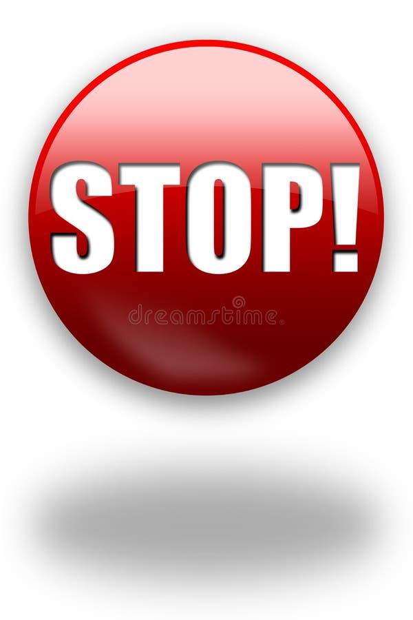ARRÊT ! bouton/signe illustration libre de droits