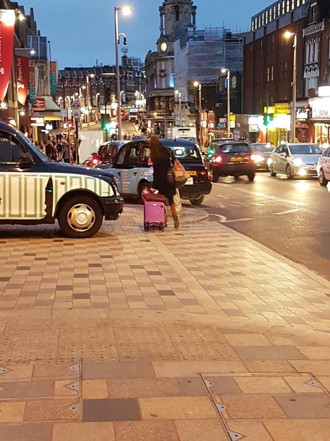 Arrêt d'autobus de jour de Londres images libres de droits