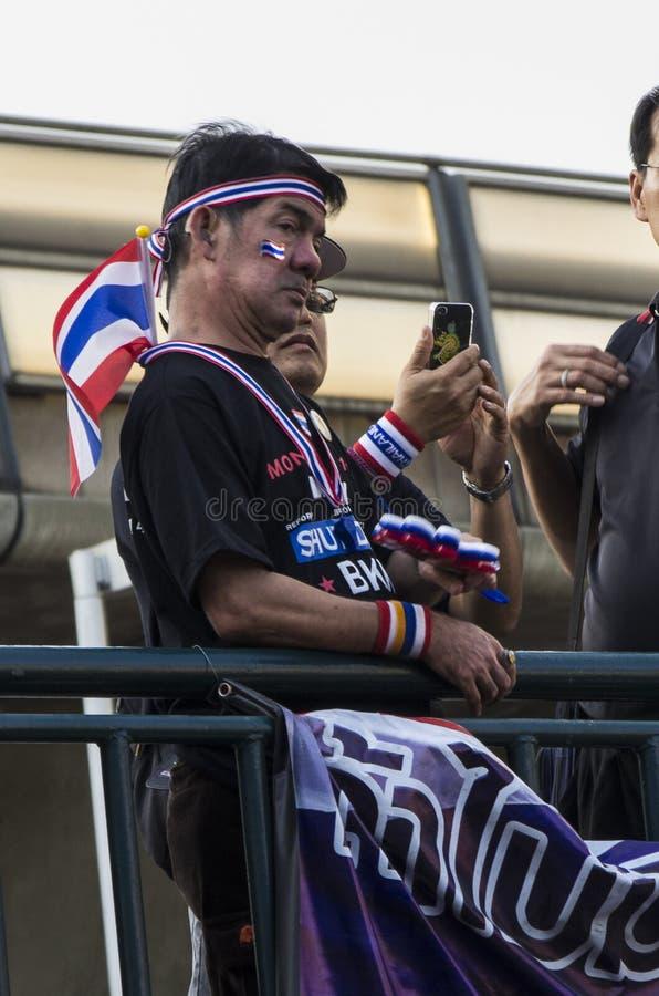 Arrêt de Bangkok : Le 13 janvier 2014 photos stock