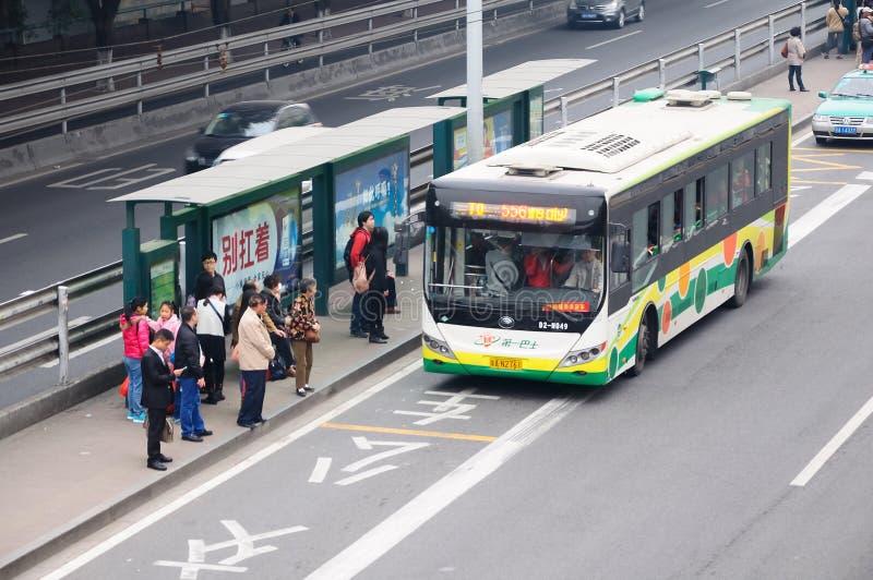 Arrêt de bus image libre de droits