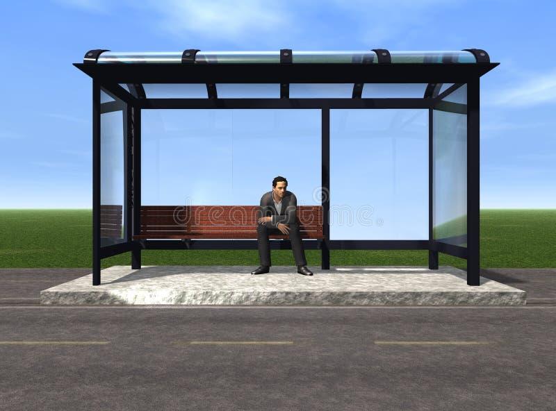 Arrêt de bus photo libre de droits