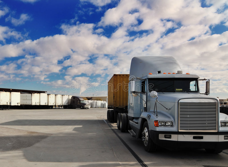 Arrêt de camion images stock