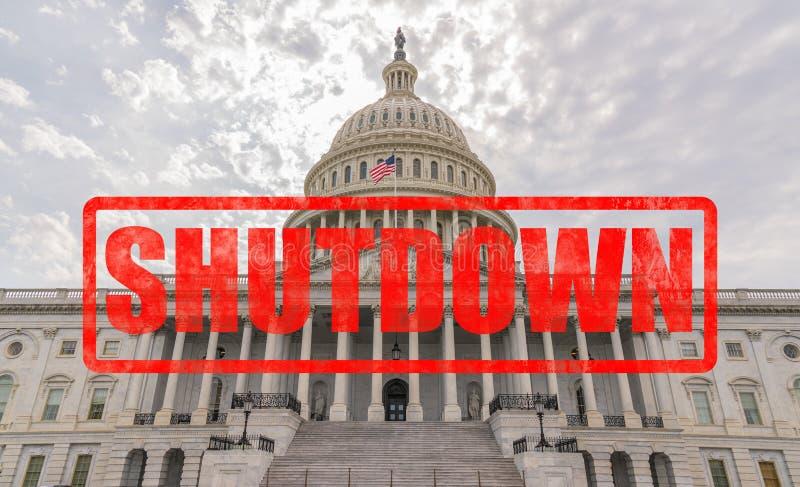 Arrêt de gouvernement de capitol des Etats-Unis photographie stock libre de droits