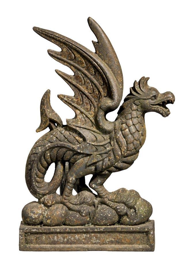 Arrêt de porte de dragon de fonte images stock