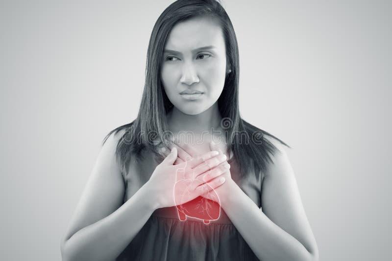 Arrêt du coeur de maladie de l'artère coronaire, arrêt du coeur de maladie de l'artère coronaire illustration stock