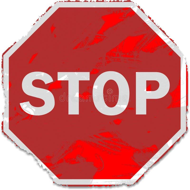 arrêt grunge de signe illustration libre de droits
