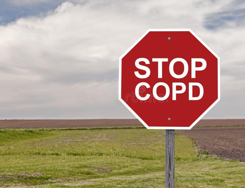 Arrêtez COPD image stock
