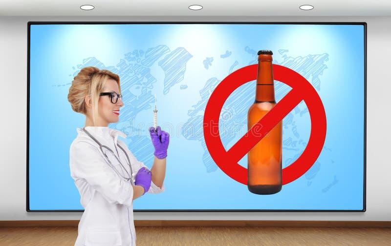 Arrêtez l'alcool photographie stock libre de droits