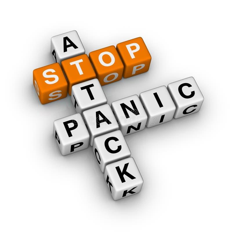 Arrêtez l'attaque de panique illustration libre de droits