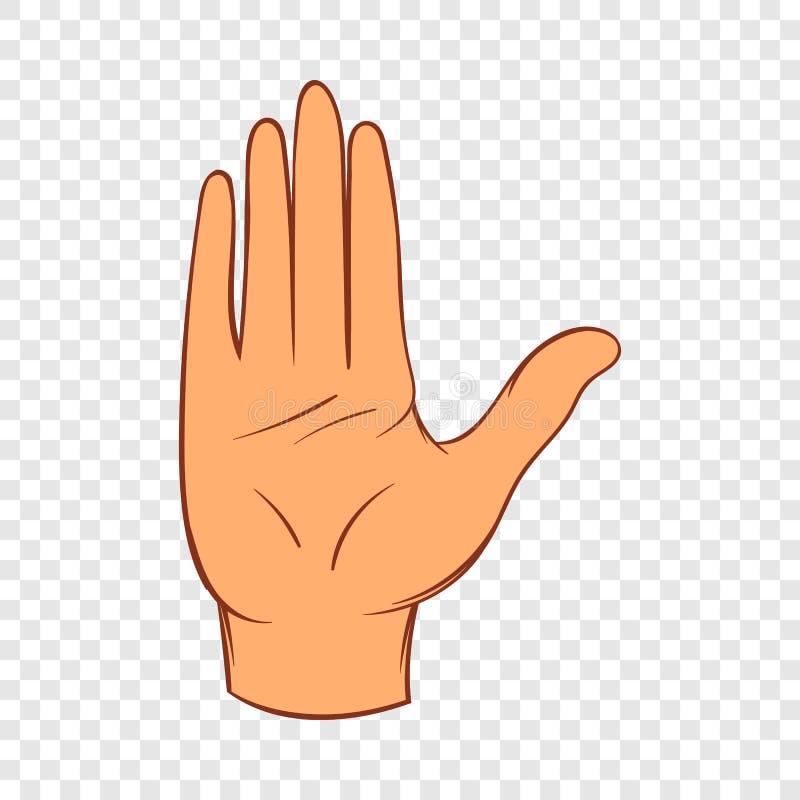 Arrêtez l'icône de geste, style de bande dessinée illustration stock