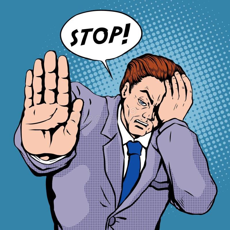 Arrêtez l'illustration d'art de bruit illustration stock