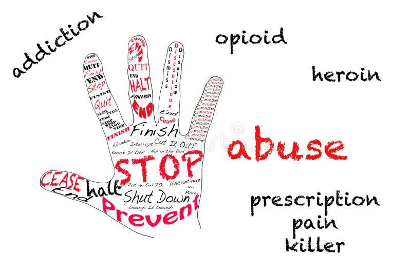 Arrêtez la dépendance d'opioid illustration libre de droits