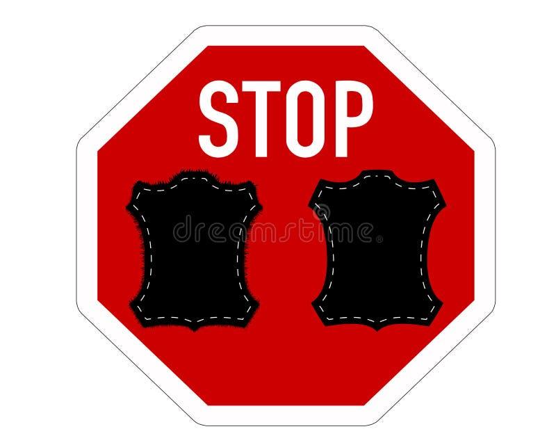 Arrêtez la fourrure et le cuir