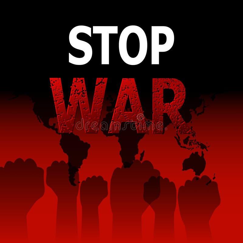 Arrêtez la guerre illustration de vecteur