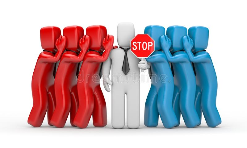 Arrêtez le bavardage illustration libre de droits