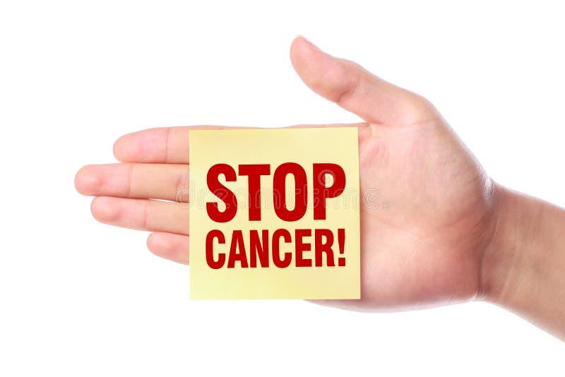 Arrêtez le cancer photo stock