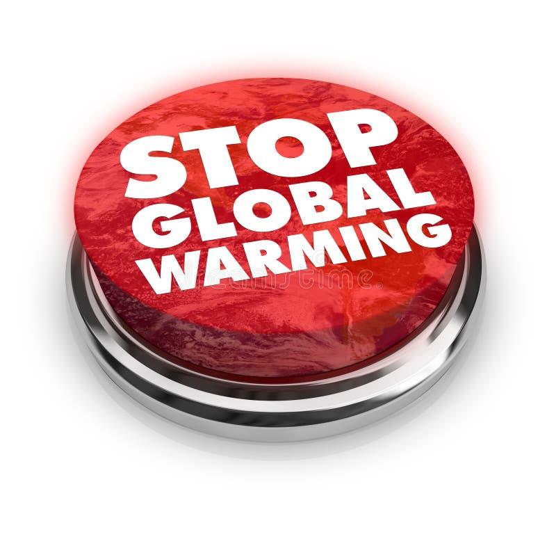Arrêtez le réchauffement global - bouton illustration libre de droits