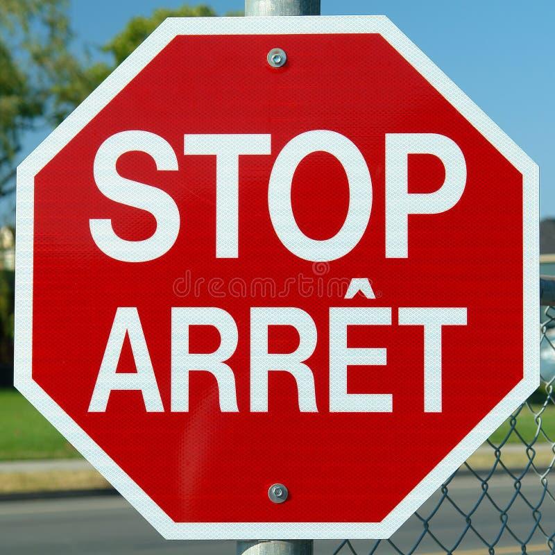 Arrêtez le rouge de signe d'Arret photos stock