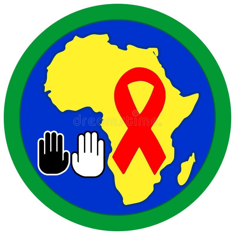 Arrêtez le SIDA en Afrique illustration de vecteur
