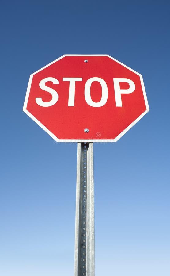 Arrêtez le signe photo libre de droits