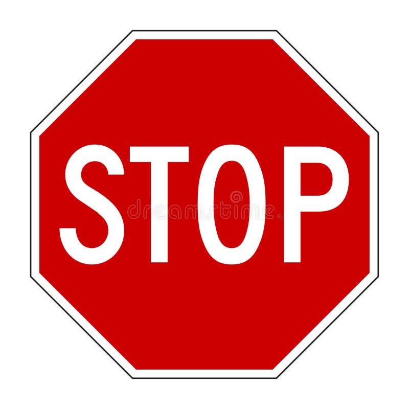 Arrêtez le signe illustration de vecteur