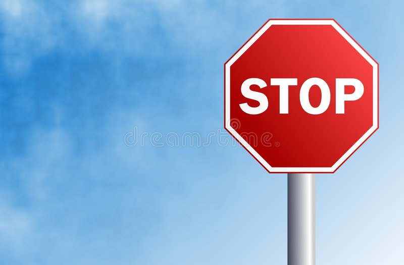 Download Arrêtez le signe illustration stock. Illustration du industries - 55899