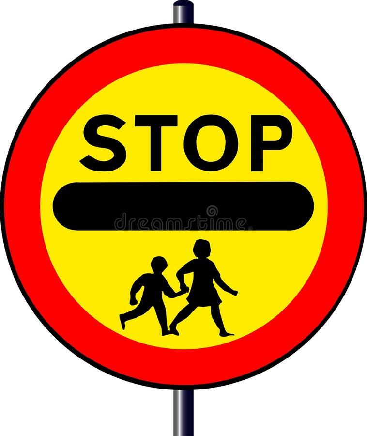 Arrêtez le signe d'enfants illustration stock