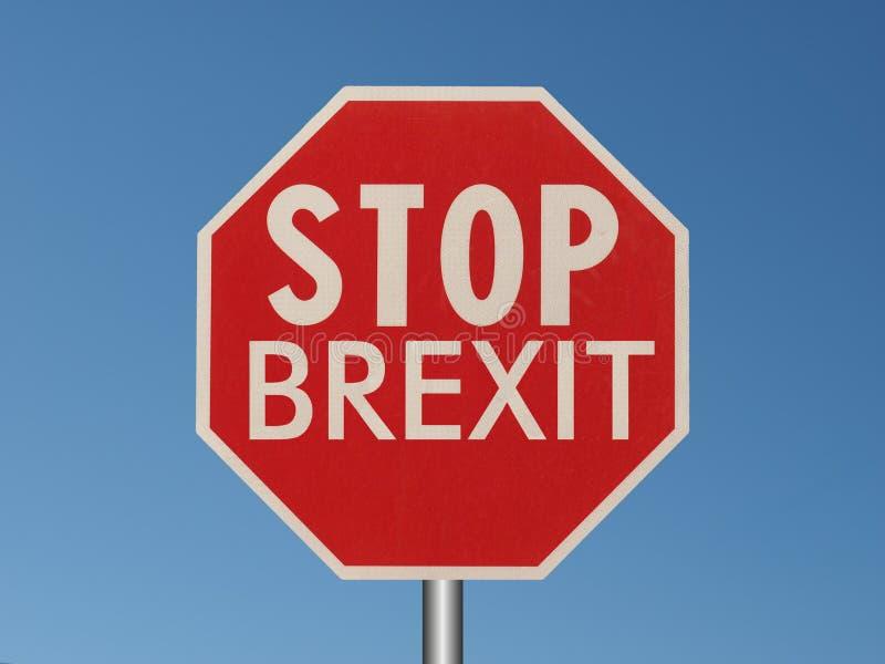 arrêtez le signe de brexit photos libres de droits