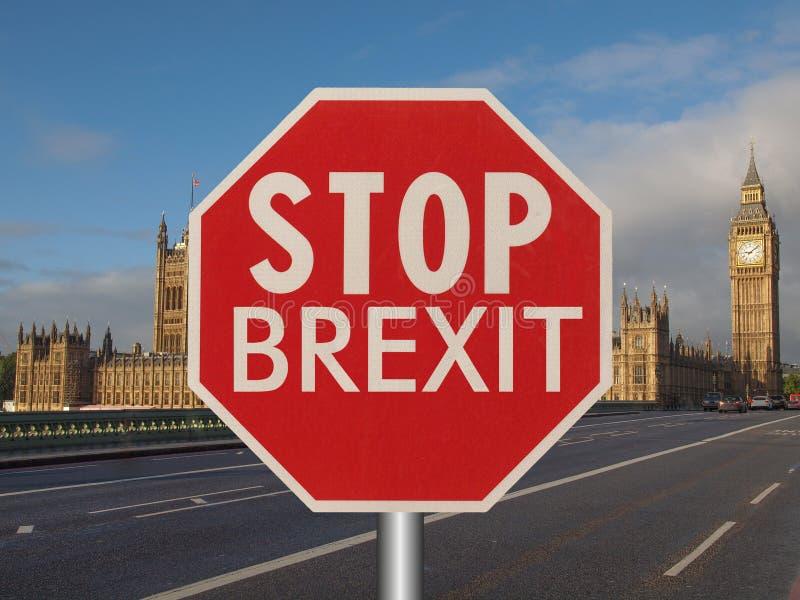 arrêtez le signe de brexit photo libre de droits