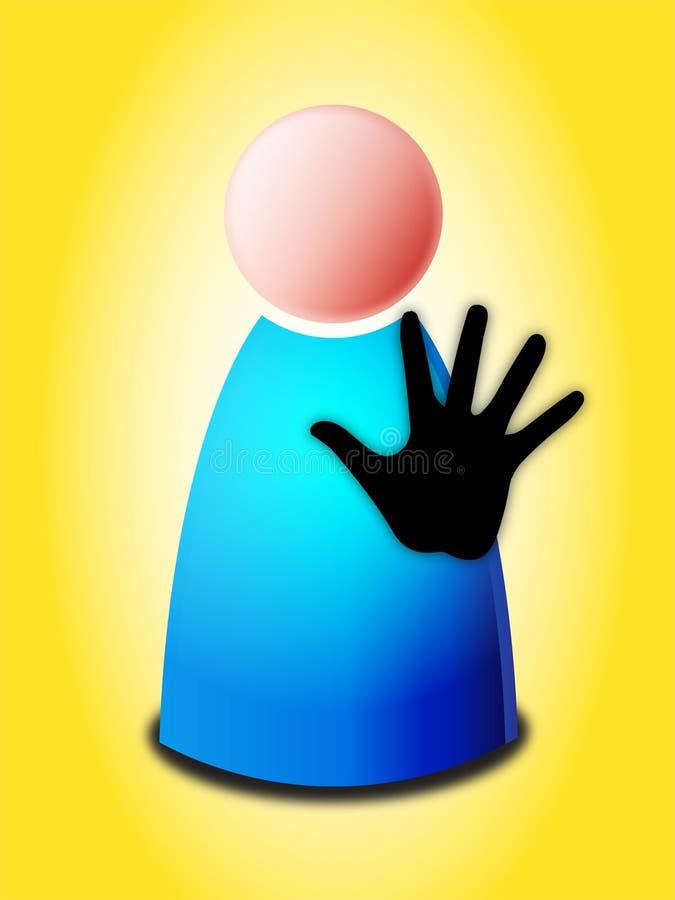 Arrêtez le signe de main illustration de vecteur