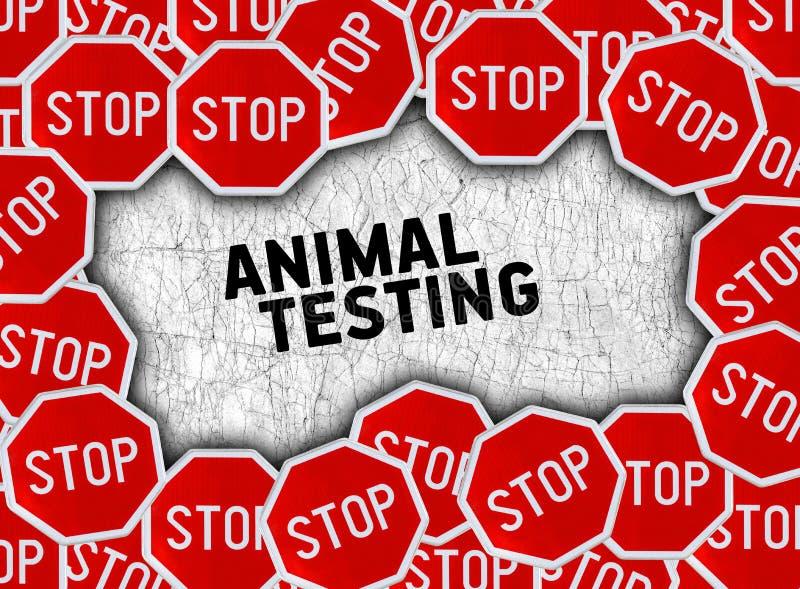 Arrêtez le signe et exprimez l'expérimentation animale photos libres de droits