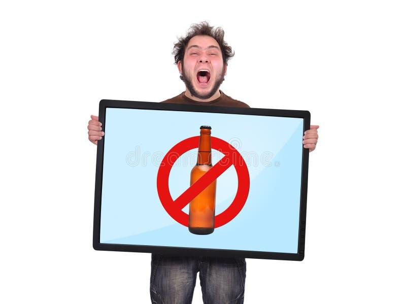 Arrêtez le symbole d'alcool photos stock