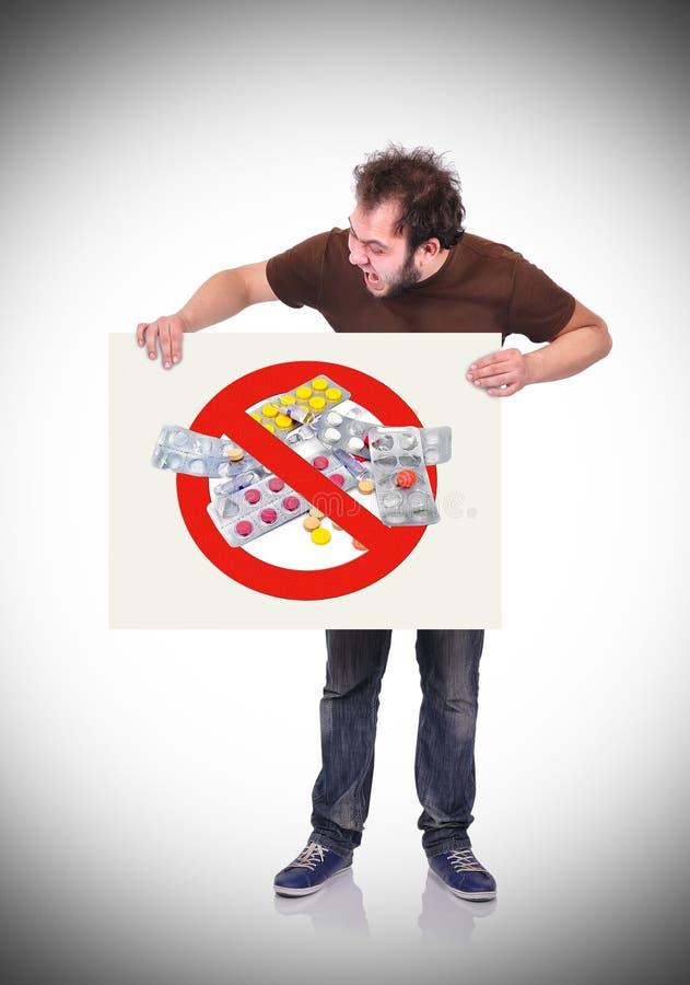 Arrêtez le symbole de drogues photos libres de droits