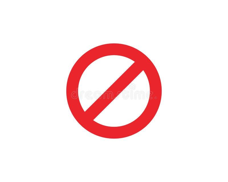 Arrêtez le vecteur de calibre d'icône de signe illustration stock