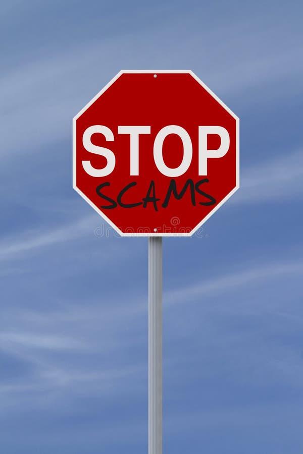 Arrêtez les escroqueries photo stock