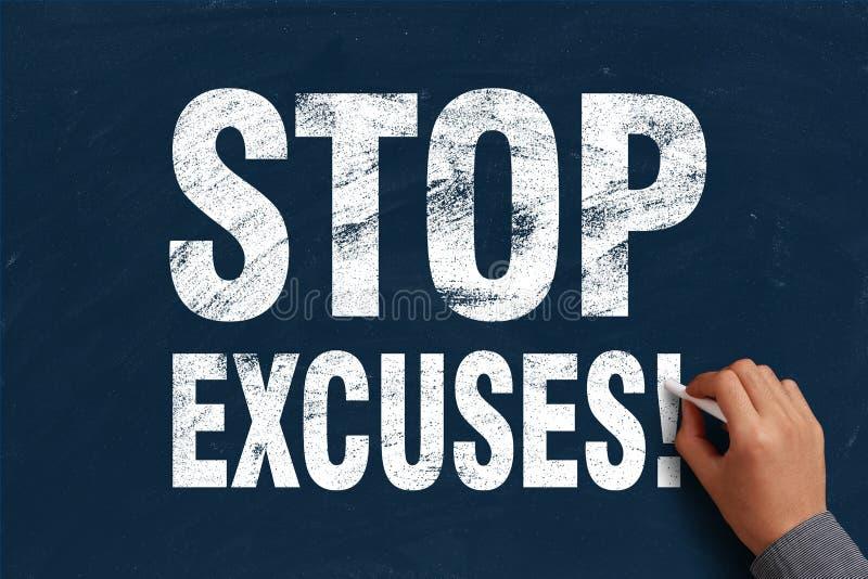 Arrêtez les excuses images stock