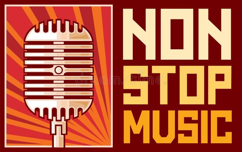 Arrêtez non la musique illustration stock