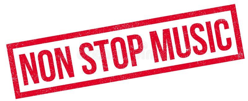 Arrêtez non le tampon en caoutchouc de musique illustration libre de droits