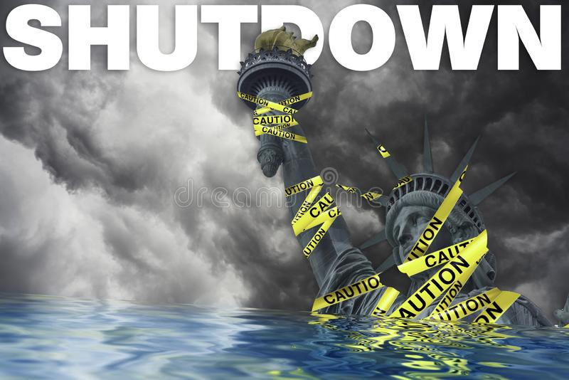Arrêts de gouvernement aux Etats-Unis images stock
