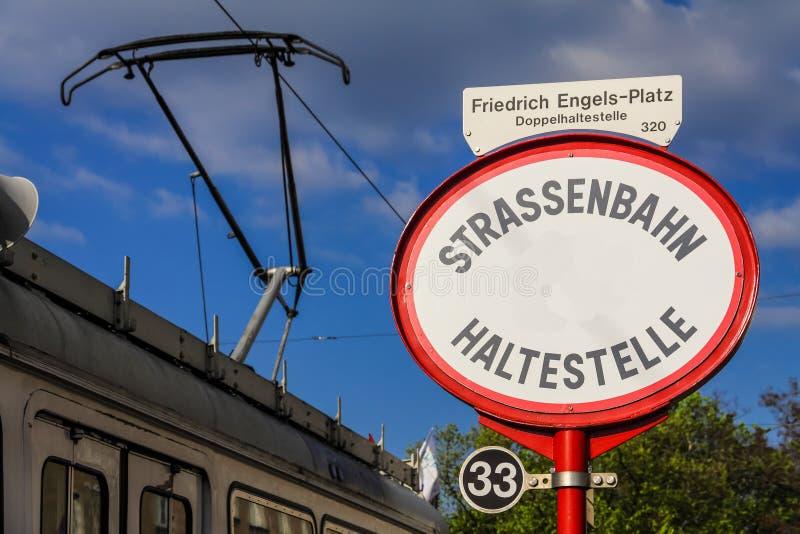 Arr?t de tram ? Vienne photos stock