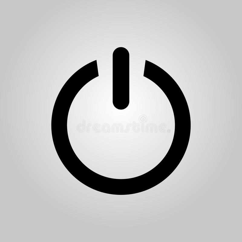 Arr?tez le graphisme Signe de sous tension/hors tension Illustration de vecteur illustration de vecteur