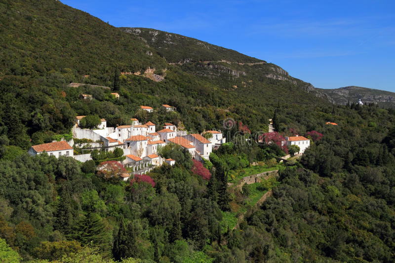 Arrabida女修道院,塞图巴尔,葡萄牙 库存图片