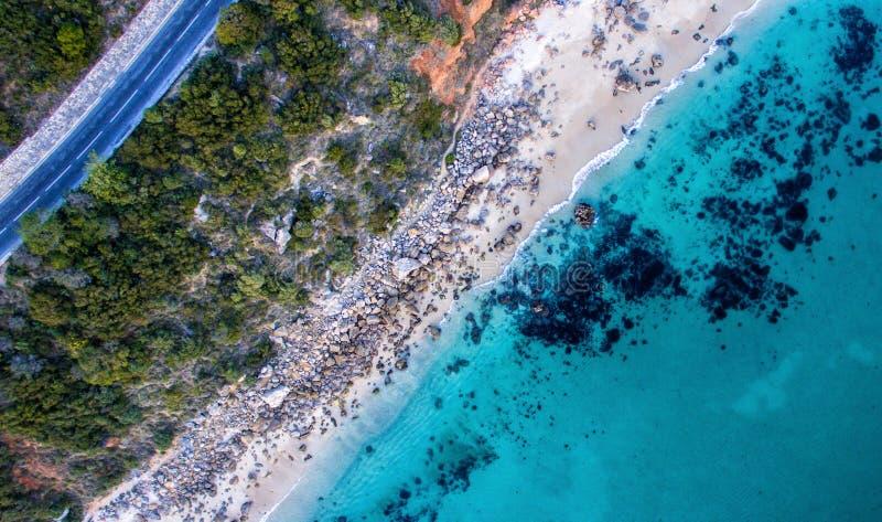 Arrabida海滩 免版税库存照片