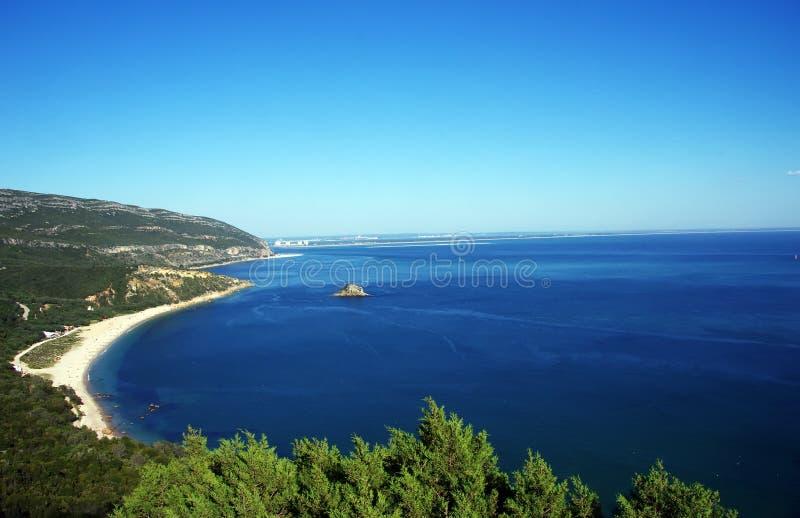 Arrabida Portinho国家公园和海滩  免版税库存图片